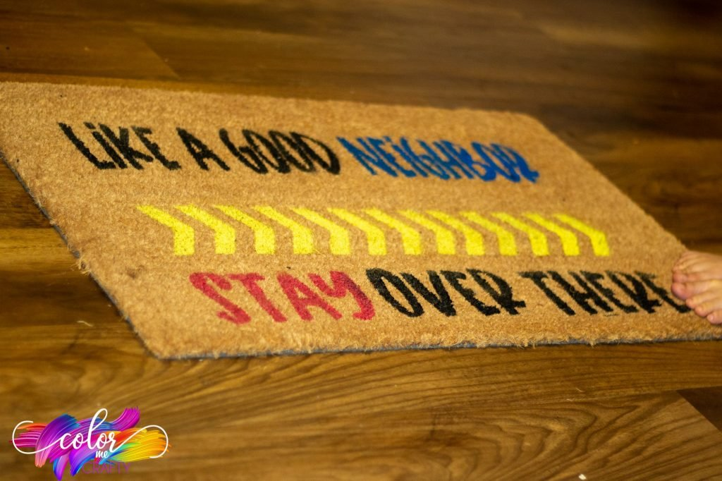 coir mat using flex seal colors angled view