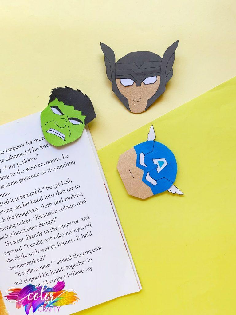 three avengers corner bookmarks