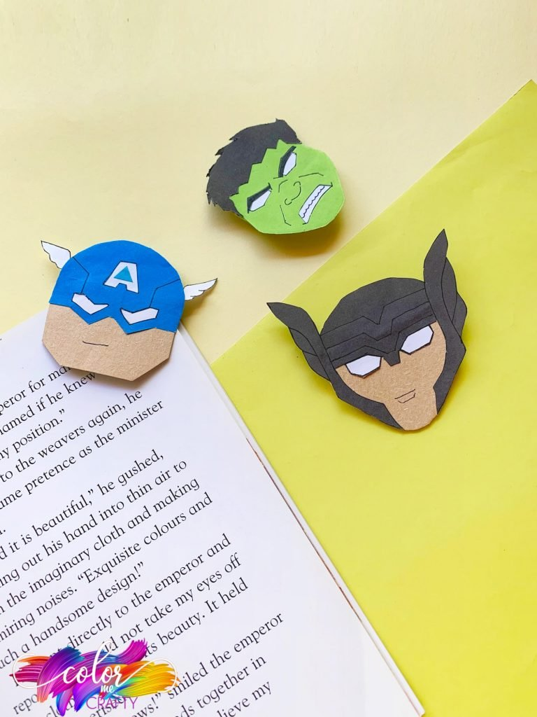 avengers corner bookmarks, captain america and hulk