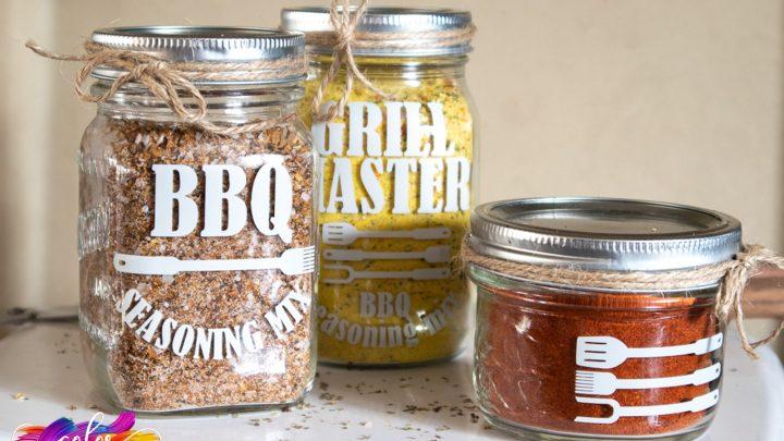 Cricut Joy Fathers Day BBQ Dry Jar Idea