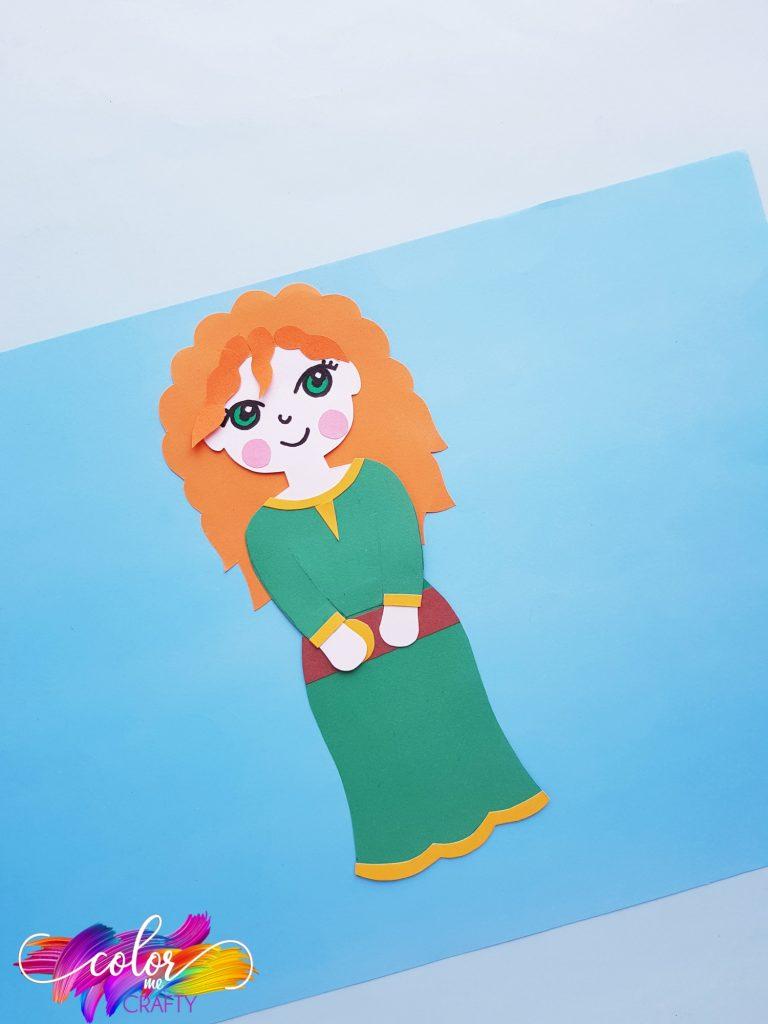 paper Merida Disney craft