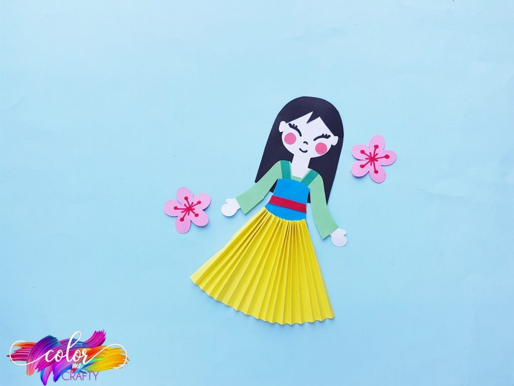 princess mulan with pink flowers