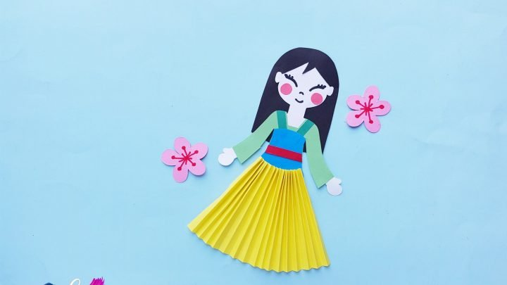 Easy Princess Mulan Paper Doll Craft