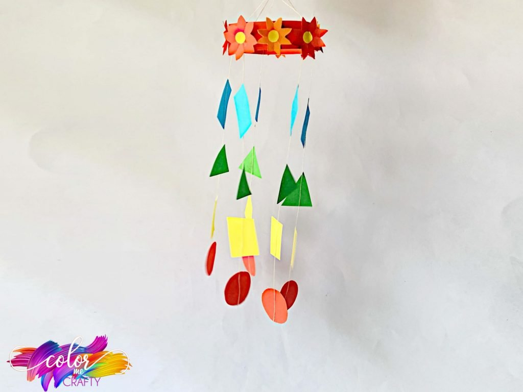 paper mobile on grey background