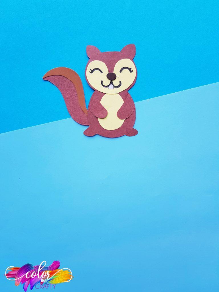 smiling paper squirrel