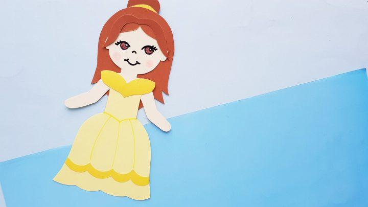 Disney Princess Belle Paper Doll Craft