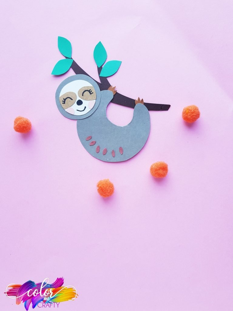 sloth craft on pink background