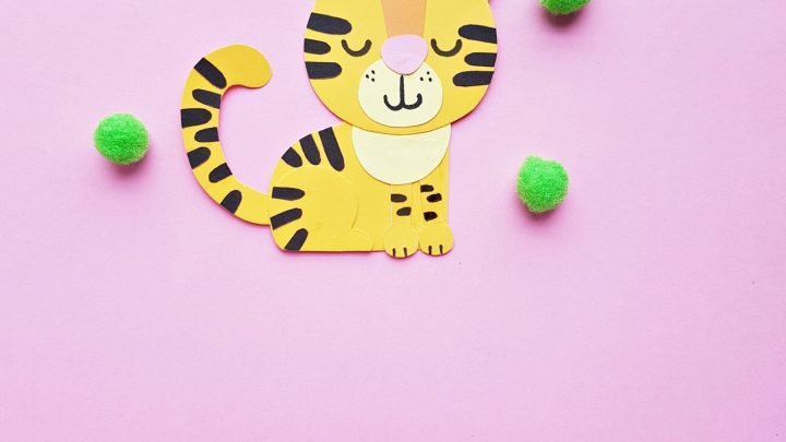 Paper Tiger Craft for Preschoolers