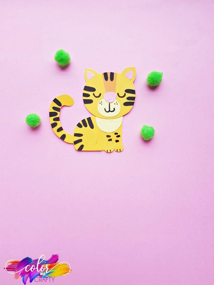 Paper Tiger Craft for Preschoolers
