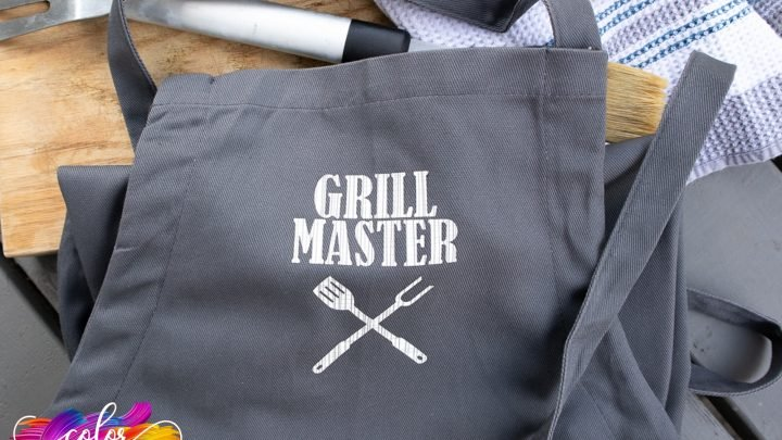Cricut Iron-On Grill Master Apron