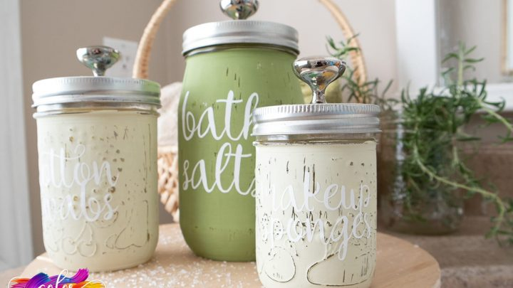 Mason Jar Bathroom Set With The Cricut