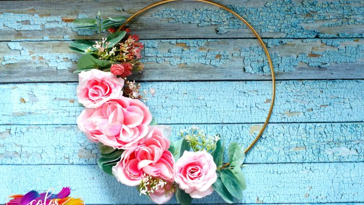 How To Make Floral Hoop Wreath
