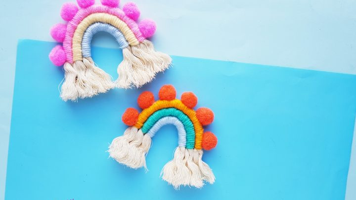 How To Make A Decorative Macrame Rainbow