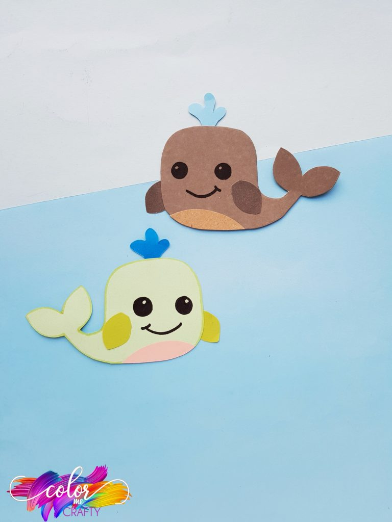 whale paper craft