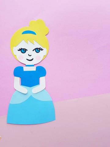 paper doll craft princess