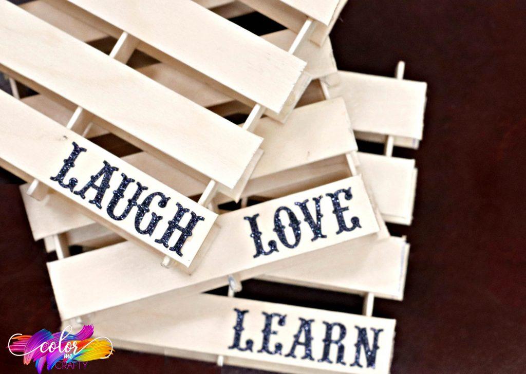laugh love learn coaster