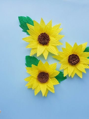 sunflower from paper
