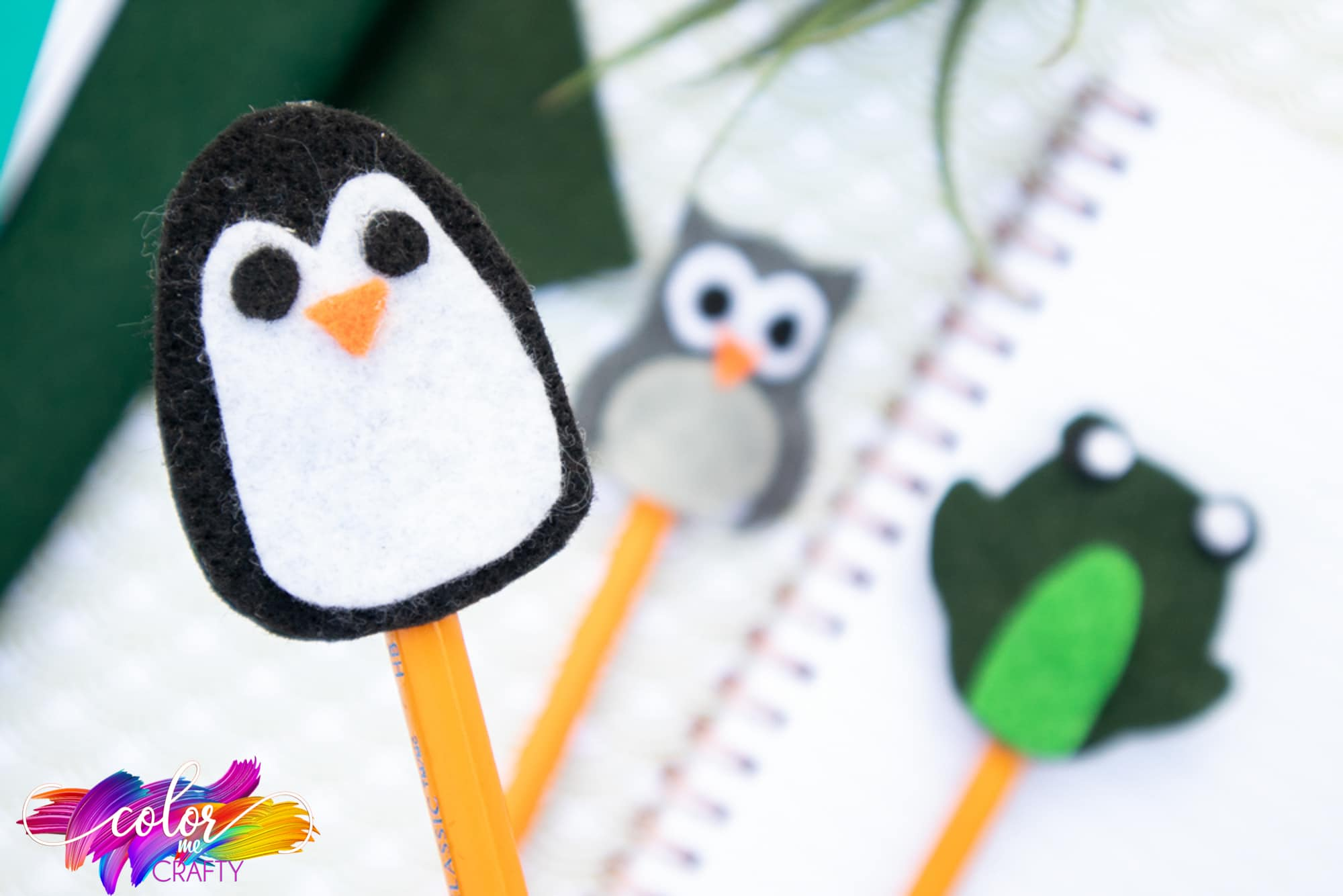 penguin, owl, frog toppers