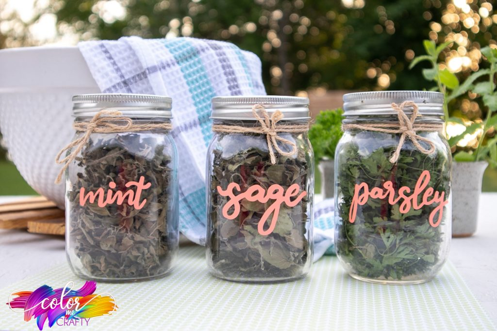 mason jars with labels