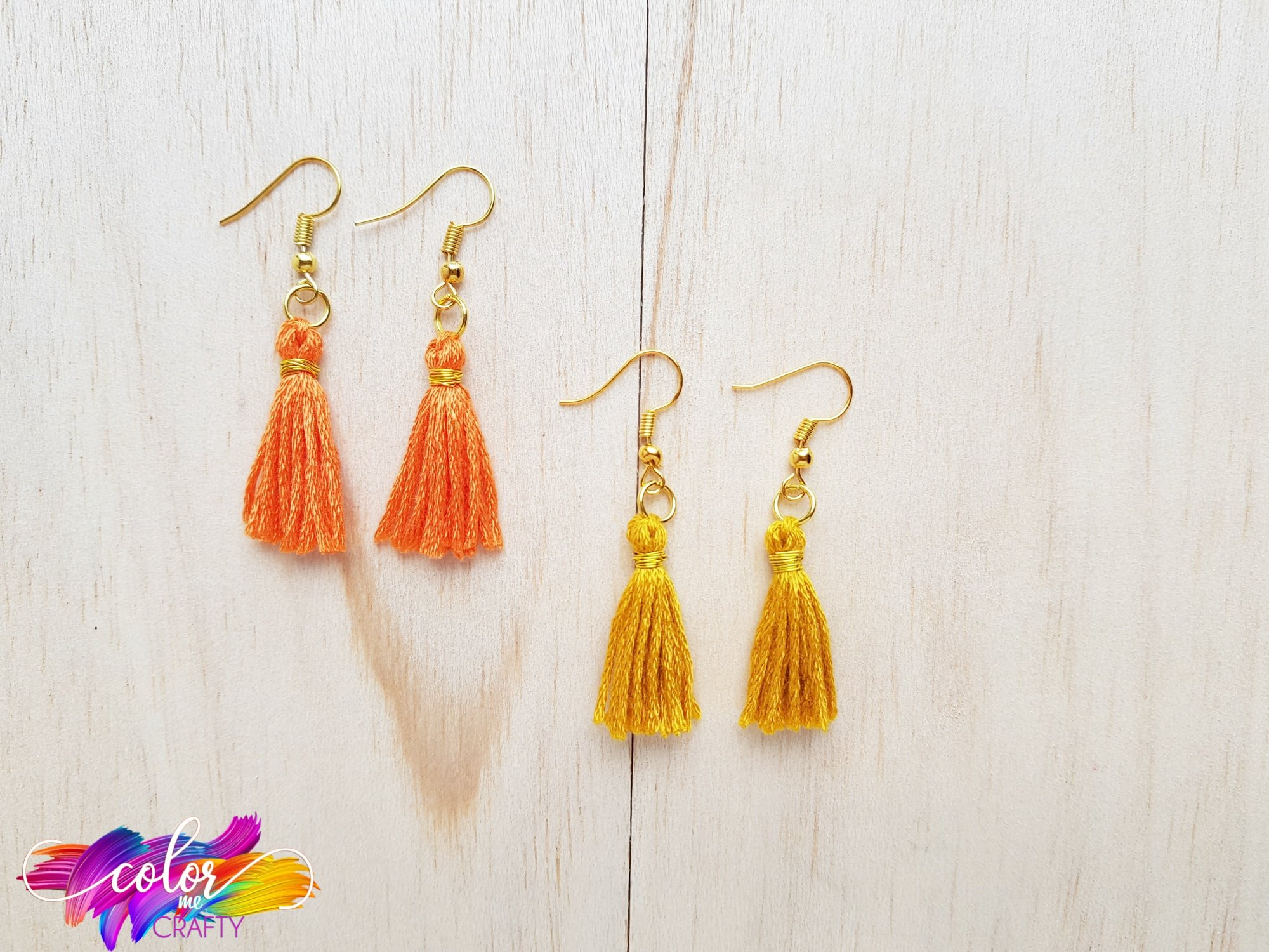 orange and yellow earrings
