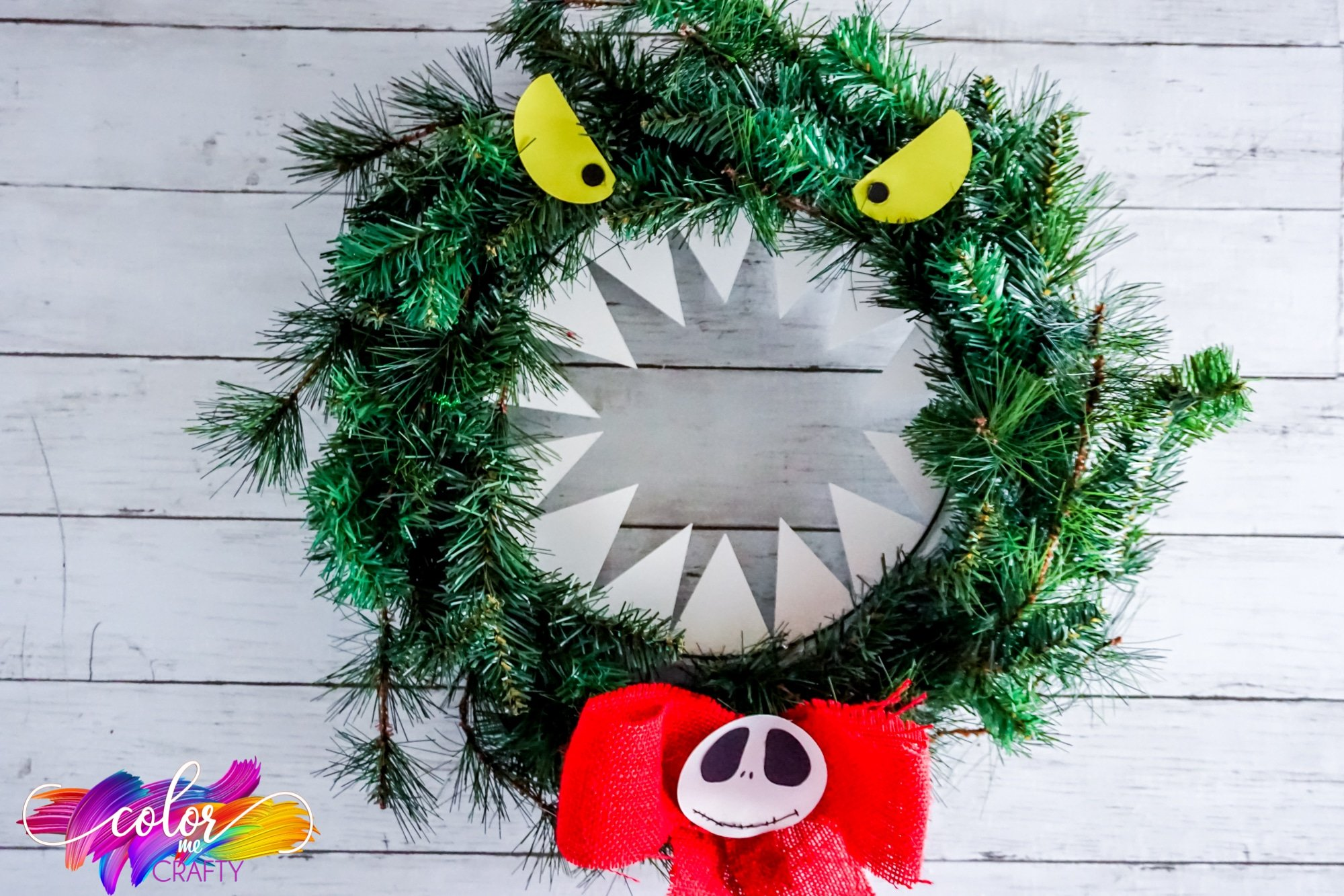 Nightmare Before Christmas Wreath Color Me Crafty