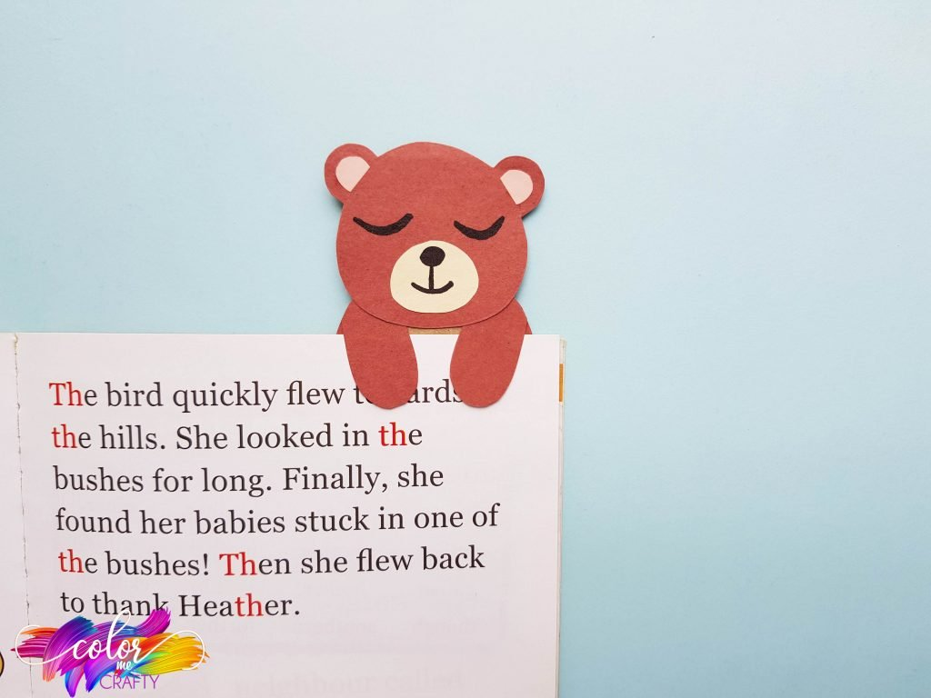 bear bookmark for kids