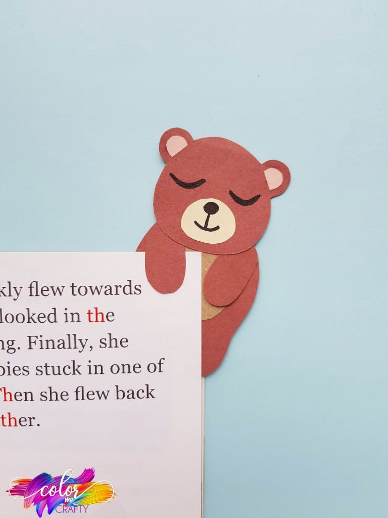 bear paper bookmark