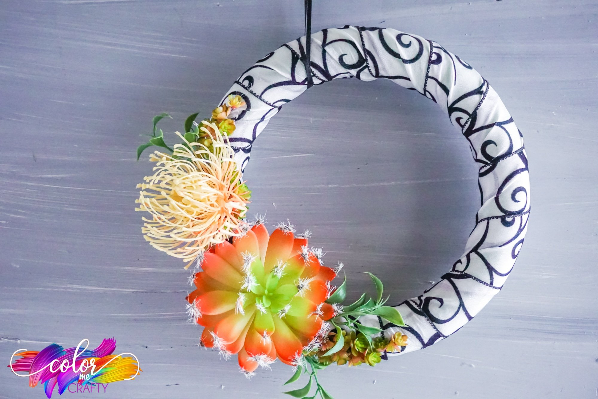 wreath with plants