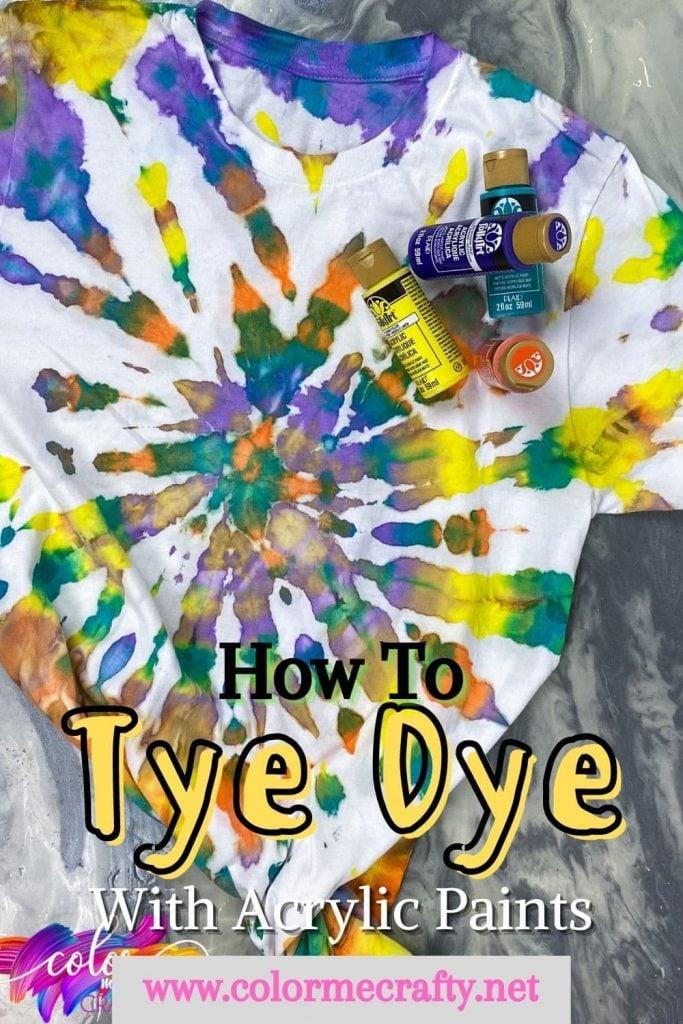 tie dye with acrylic