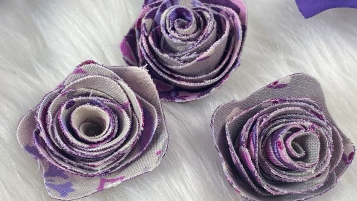 flowers from fabric