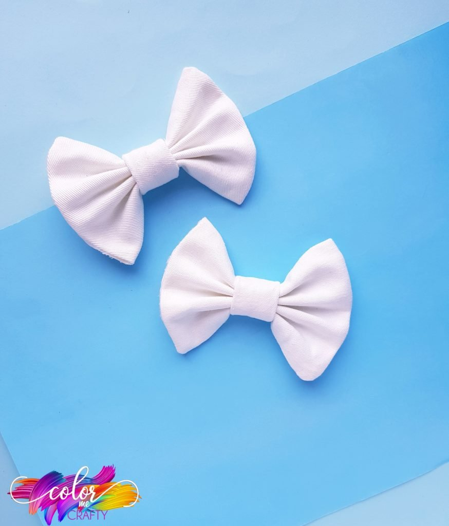 crafted bow made of fabric