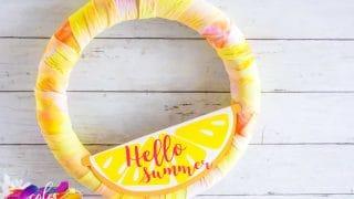 Pink Lemonade Tie-Dyed Wreath With Heat Transfer Vinyl