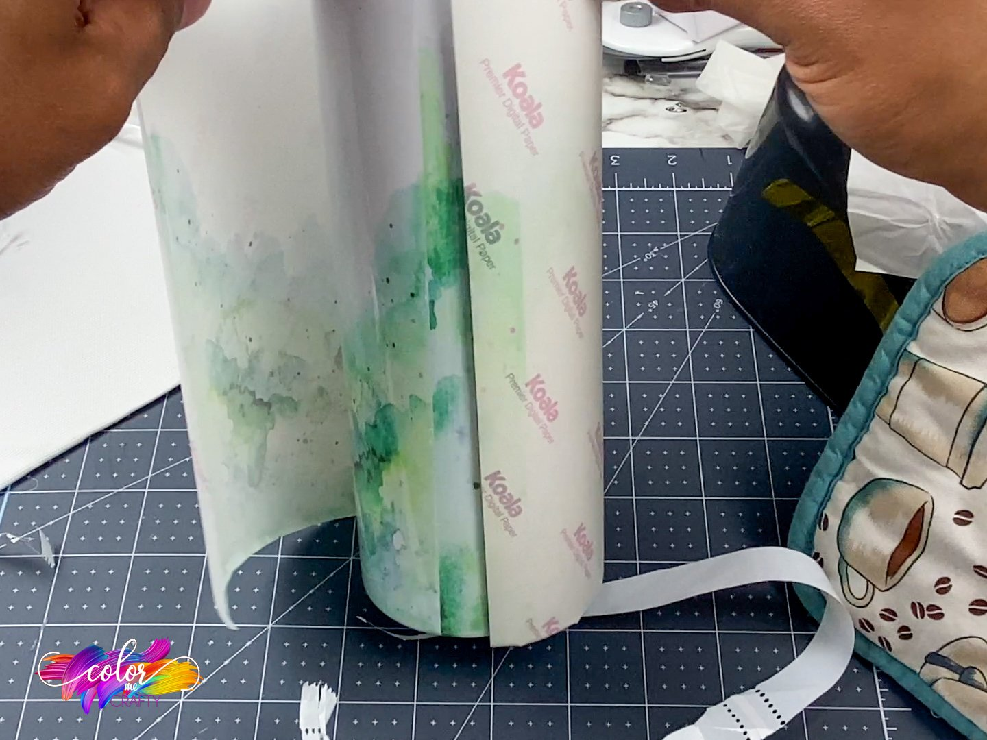 taking sublimation paper off of a tumbler