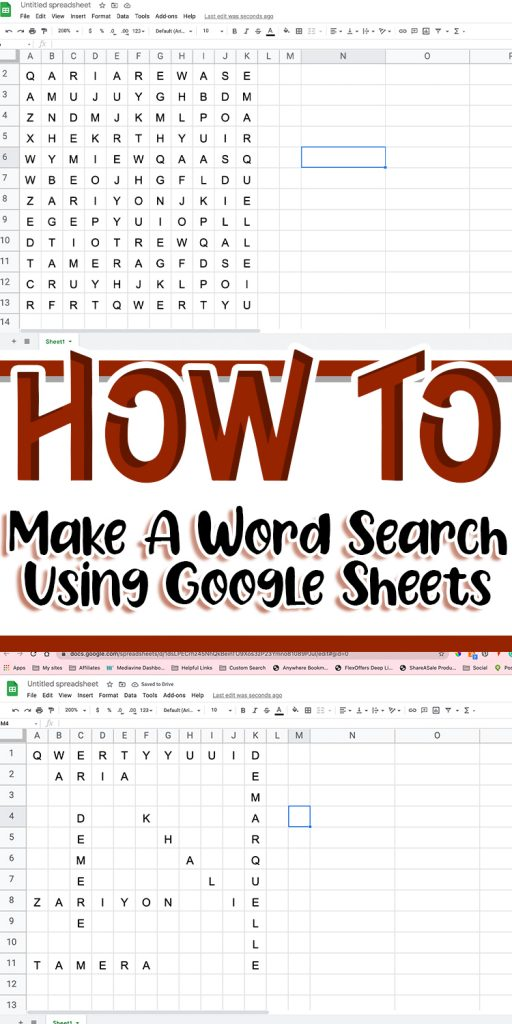 how to make a word search