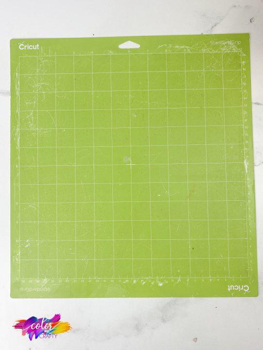 cleaned green standard grip vinyl cutting mat