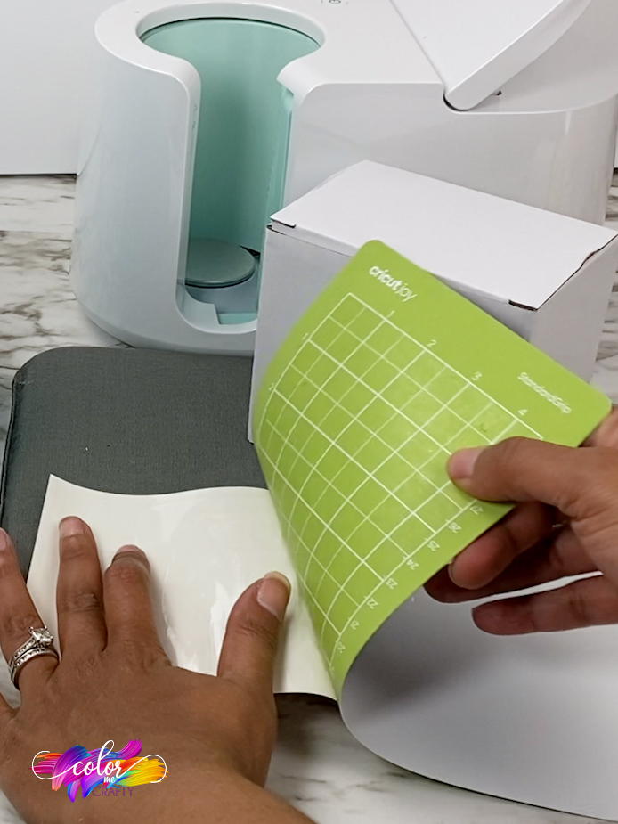 removing the cricut mat from infusible ink sheet