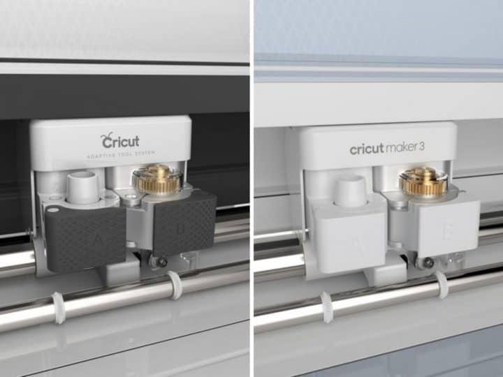 cricut maker vs cricut maker 3 tool holder side by side