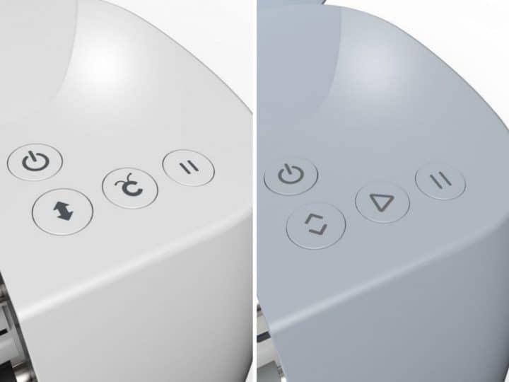 Cricut maker and cricut maker 3 side by side button settings