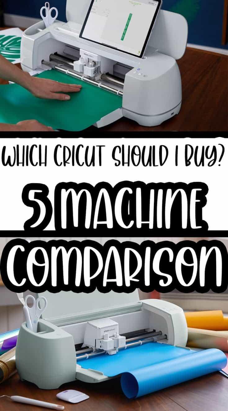 cricut machine comparison with text overlay