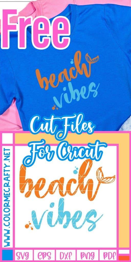 free beach vibes svg pin image