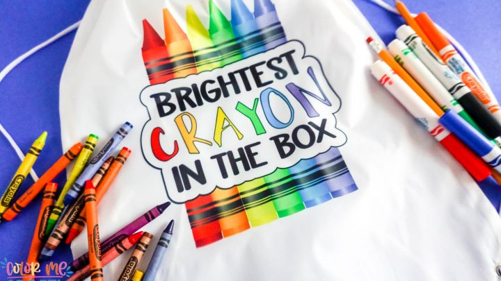 brightest crayon sublimation backpack
