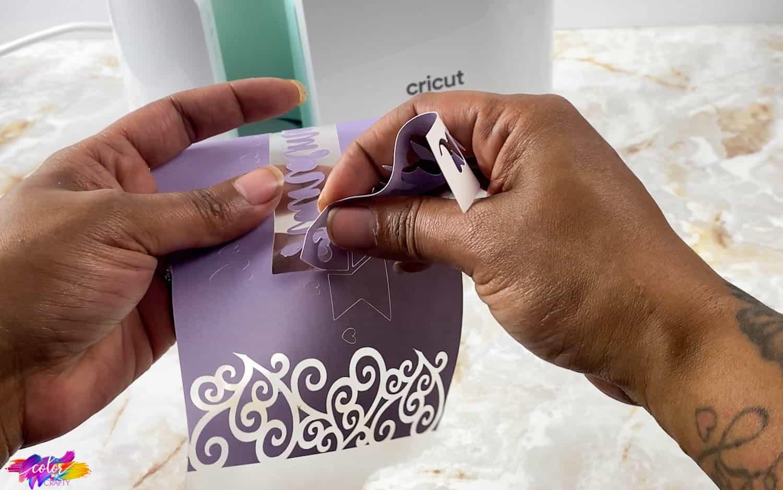 weeding cricut infusible ink sheets
