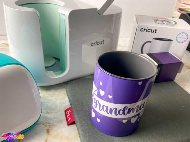 cricut grandma mug made with images from cricut design space
