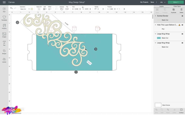 resizing cricut design space image