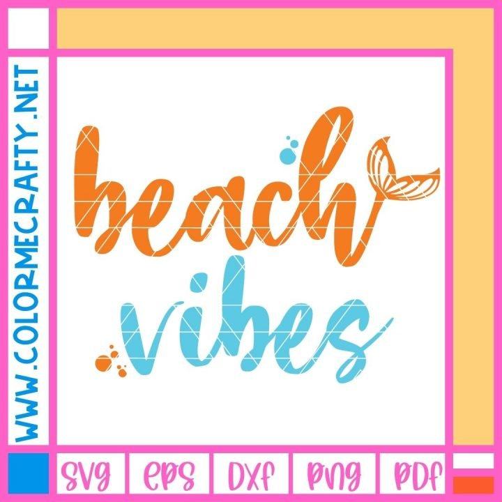 beach vibes only watermarked mockup