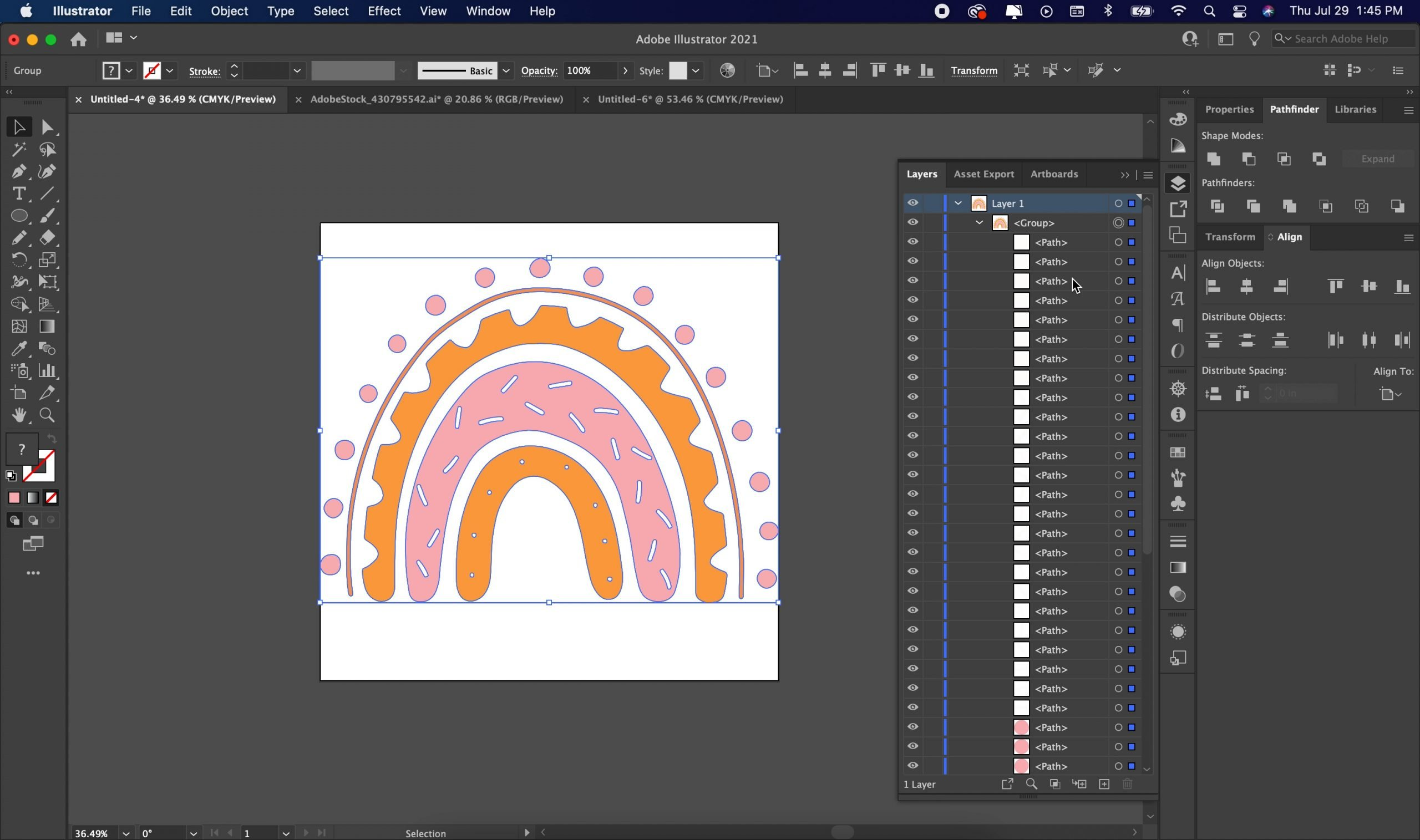 expanding image in illustrator