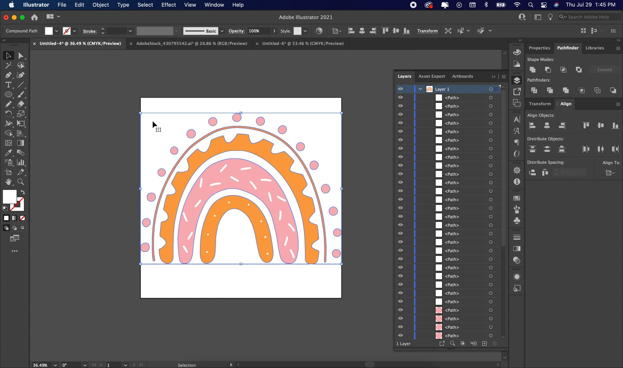 removing the background of our jpg in adobe illustrator
