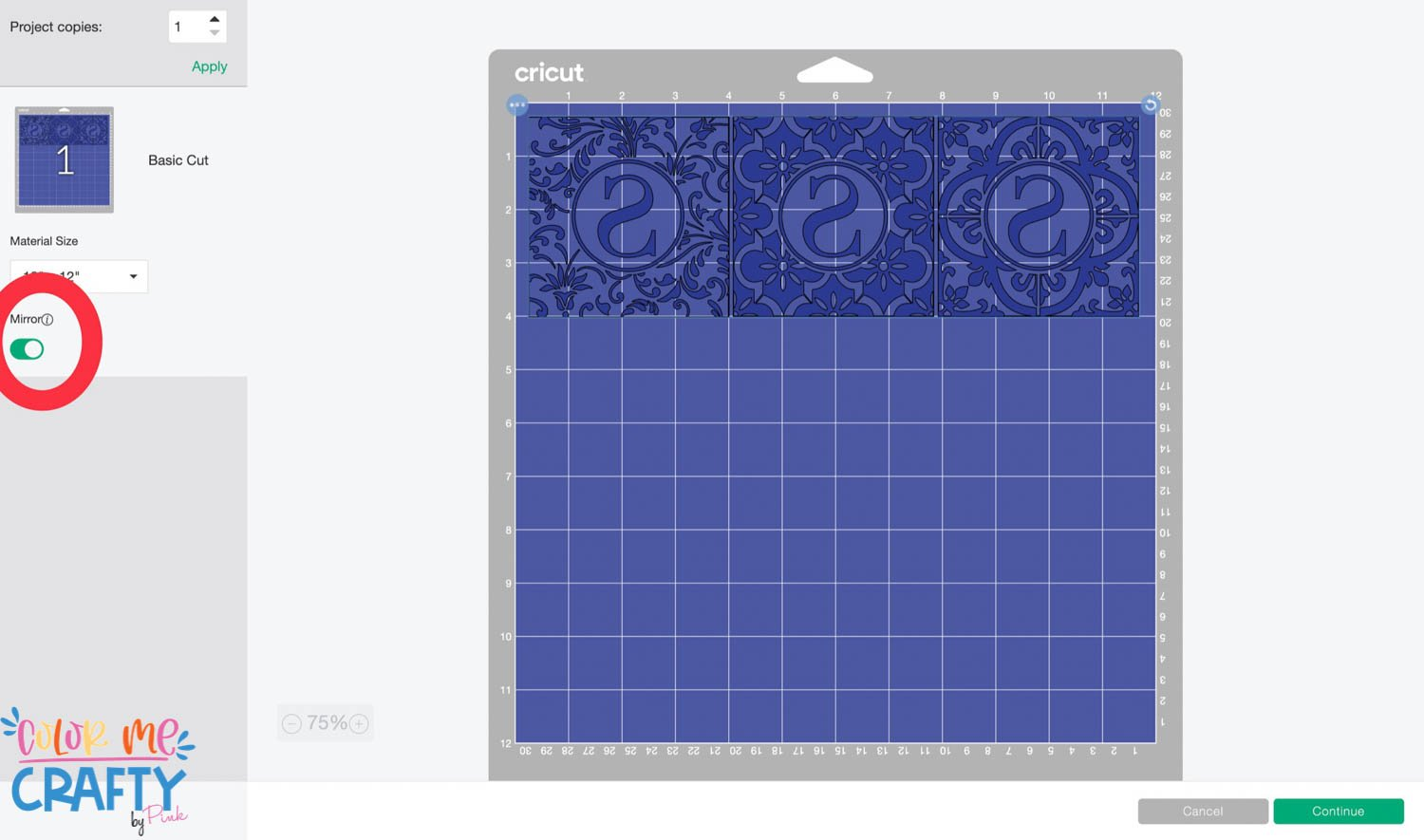 mirroring infusible ink coaster design
