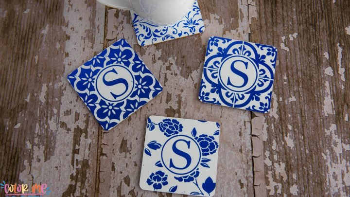Monogrammed Infusible Ink Coasters With Free SVG