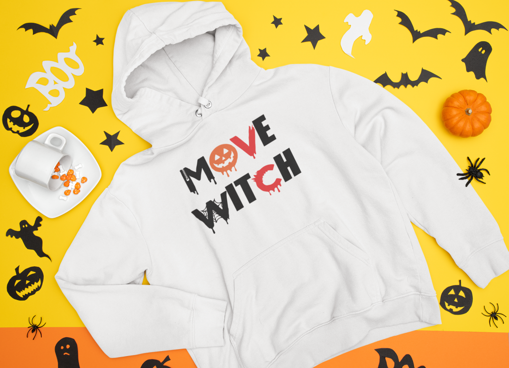 This funny Halloween SVG Plus Free Cut File can be used for so many projects. I transformed this Move Witch SVG Cut File into A Halloween Shirt. #halloween #craft #cricut #silhoutte #SVGfile #DIY #fall